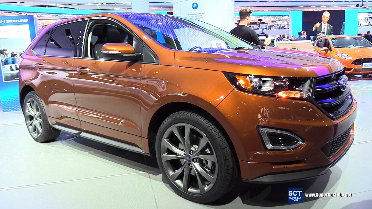 2017 ford edge sport awd exterior and interior walkaround 2017 detroit auto show youtube. Black Bedroom Furniture Sets. Home Design Ideas