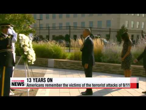 U.S. marks 13th anniversary of 9/11 attacks   오바마 9/11 테러 13주년 추도