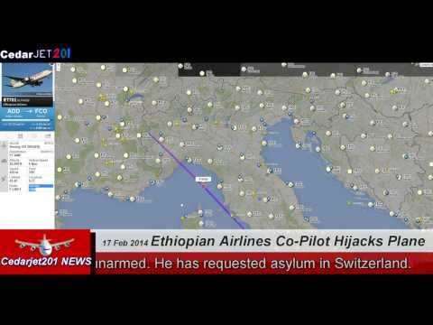 Ethiopian Airlines Boeing 767 hijacker ON Radar + Air Traffic Recordings