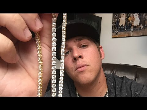 REAL vs. FAKE diamond tennis chain