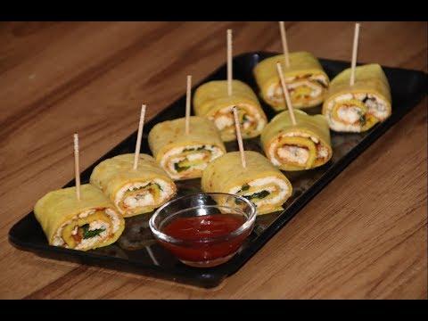मूंग दाल पनीर चीला रोल | Moong Dal Paneer Stuffed Chilla Roll Recipe | मूंग दाल पनीर स्टफ्ड चीला रोल