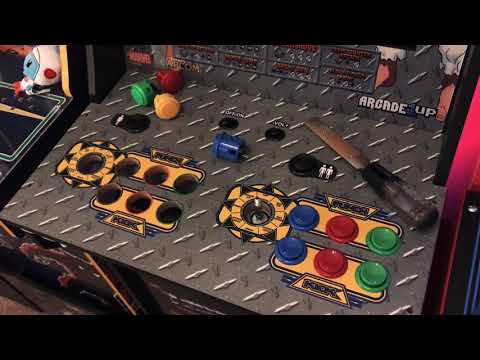 Easily add Sanwa buttons to Arcade1up X-Men vs Street Fighter from WiseGrape