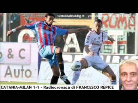 CATANIA-MILAN 1-1 – Radiocronaca di Francesco Repice (31/3/2012) da Radiouno RAI