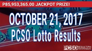 PCSO Lotto Results Today October 21, 2017 (6/55, 6/42, 6D, Swertres & EZ2)
