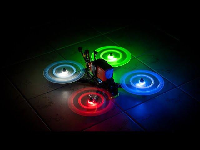 Make your Drone GLOW! Gemfan Moonlight LED Propellers 🌙