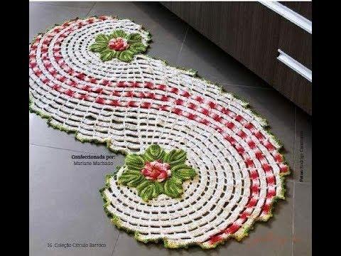Crochet Patterns  for free  crochet floor rug  2385 - YouTube
