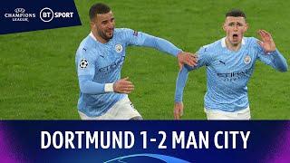 Dortmund V Man City 1-2 Foden Fires Winner As Citizens Progress Champions League Highlights