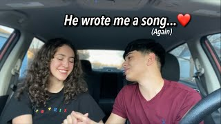 MY BOYFRIEND WROTE ME A SONG 🥺❤️ *cute af*