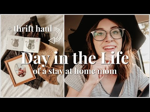 COME THRIFT SHOPPING WITH US | DITL OF A STAY AT HOME MOM
