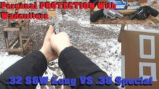 LOW RECOIL Personal PROTECTION: Wadcutters .32 S&W Long VS .38 Special