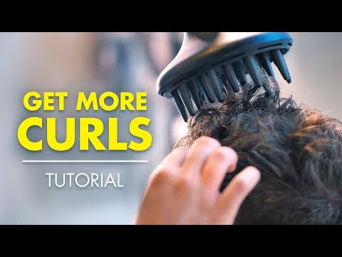 How to make your hair more curly for guys