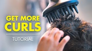 Get more CURLS    How to Style Curly or Wavy Hair
