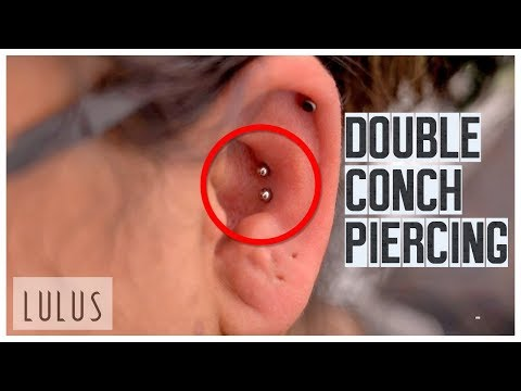 She Wanted 2 Conch Piercings In One Day Painful Youtube