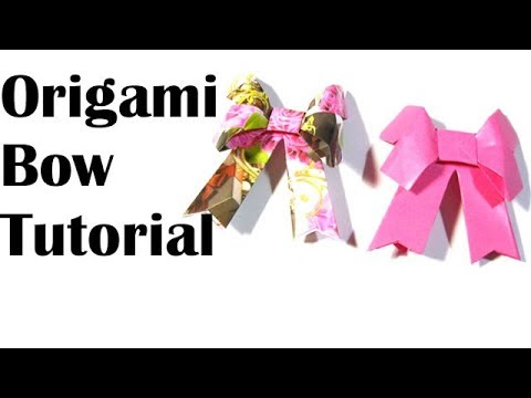 Origami-How to make a paper Bow/Ribbon/Paper Kawali
