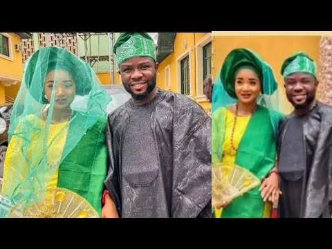 Download Yoruba Actor Ibrahim Yekini Ties The Knot With His Lovely Wife Actress Toke Jamiu As They...