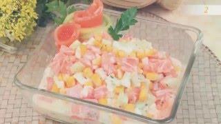 Новогодние салаты, новые вкусные рецепты салатов на Новый Год 2017! Салат из семги с огурцом рецепт