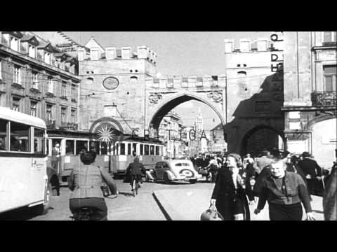 Buildings being reconstructed in Cologne, Munich and Stuttgart in Germany after t...HD Stock Footage