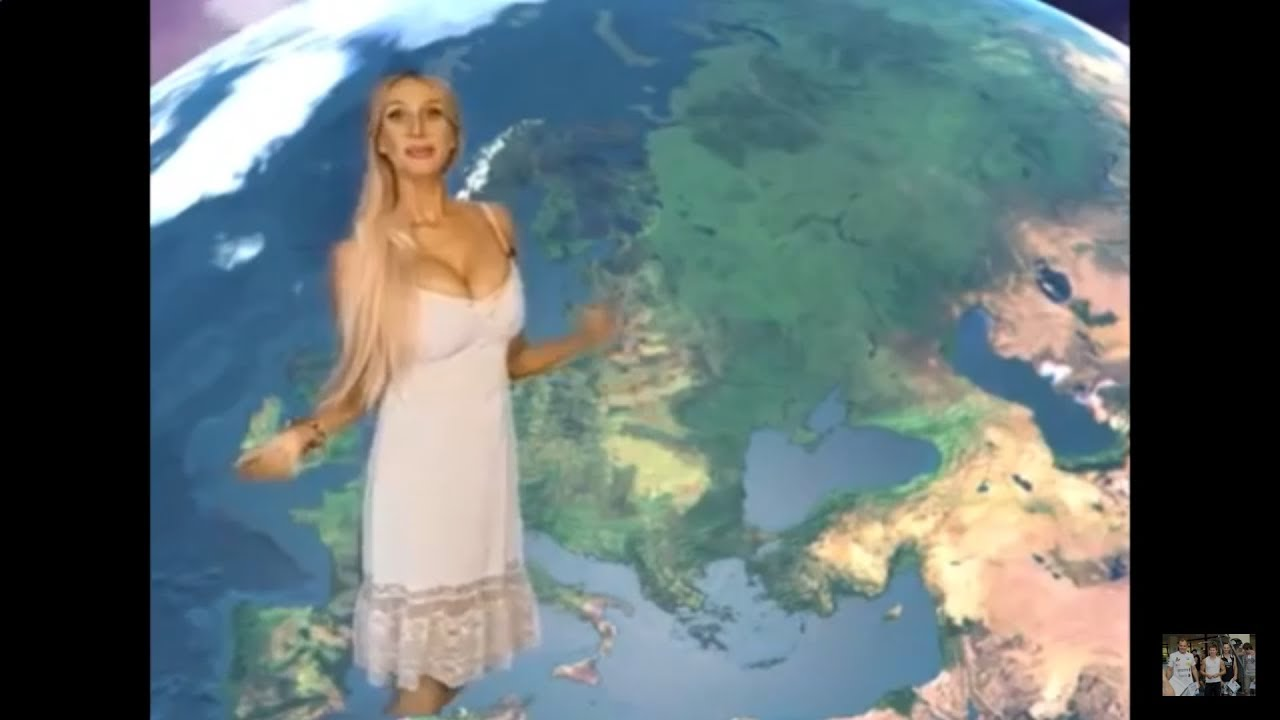 Hot Busty Weather Reporter MILF on Russia TV - YouTube