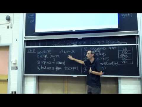 6.828 Lecture 8: System calls, Interrupts, and Exceptions