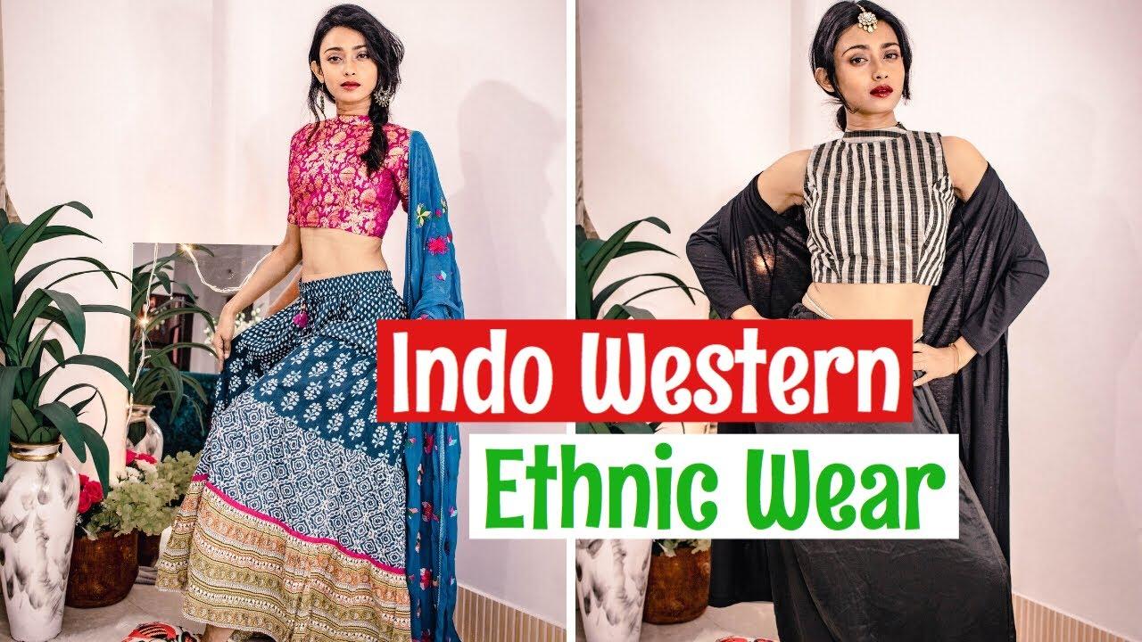 8e375c54958cb Indo Western Ethnic Wear| Diwali Outfits 2018 - YouTube