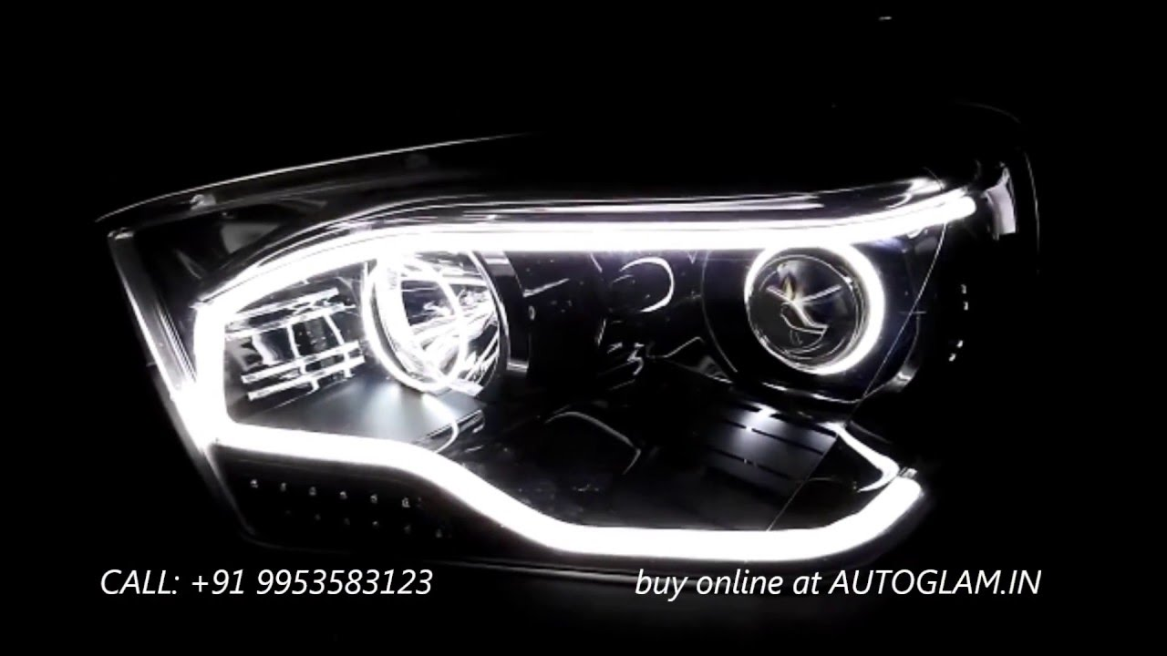 agmsg905dh55w mahindra scorpio evoque style aes 55 watt dual hid projector headlight youtube. Black Bedroom Furniture Sets. Home Design Ideas
