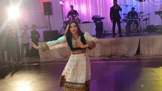 New Mast Afghan girl dance member of Hewad group for Jawid Sharif live song in wedding, Germany 2019