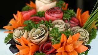 Уникальные украшения блюд из овощей