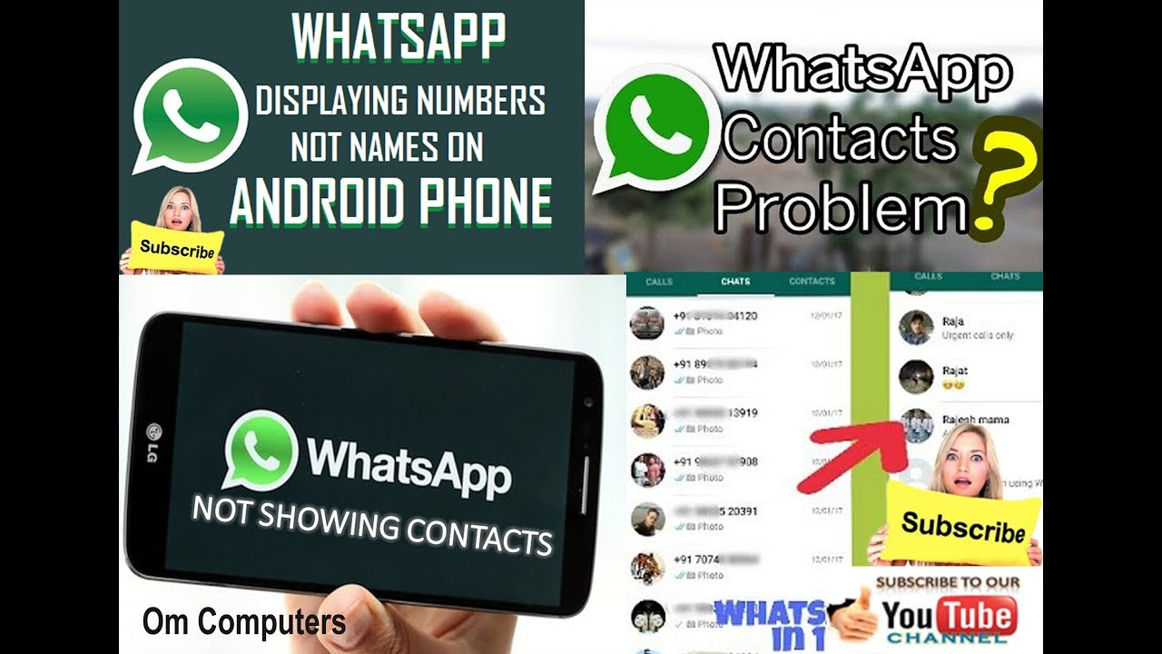 My whatsapp contact names are not showing मेरा व्हाट्सएप