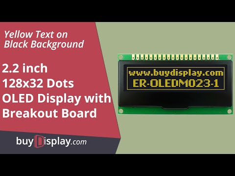 "SPI I2C Yellow 2.2"" inch Arduino,Raspberry Pi OLED Display 128x32"