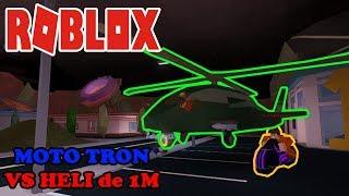 Roblox: JailBreak - Moto Tron vs Heli 1M (military) !!!