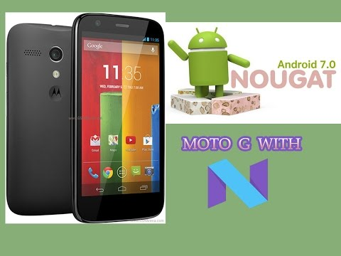 Update Moto G 1st gen to Nougat 7.1 version cm14.1 nightly