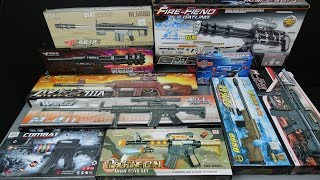 Box of Toy Guns - Realistic Toy Rifles Military Guns Toys - Video for Kids