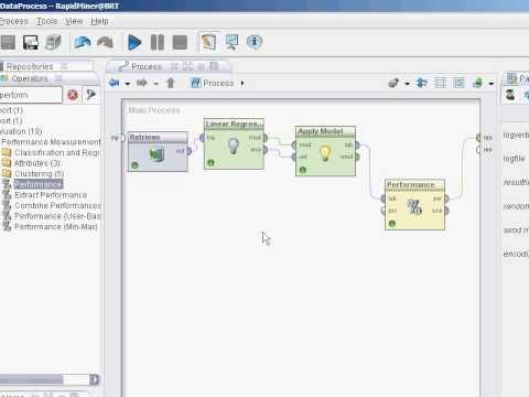 RapidMiner 5 Tutorial - Video 9 - Model Peformance And Cross-Validation