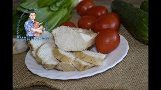 Сочная куриная грудка маринованная в соевом соусе с чесноком