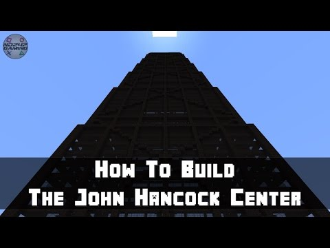 Minecraft: How To Build The John Hancock Center (Skyscraper) Part 2 - Some Outlines