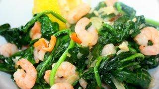 Caribbean Spinach With Shrimp