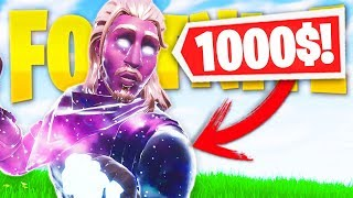 I BOUGHT THE MOST EXPENSIVE SKIN OF FORTNITE...? *skin galaxy*
