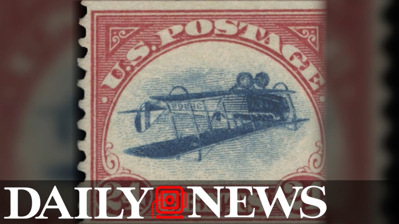 Rare 'Inverted Jenny' stamp featuring an upside down plane sells for over  $1 million at auction