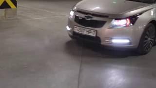 Chevrolet Cruze линзы в фарах и ДХО Camaro Style(, 2016-03-29T20:51:25.000Z)