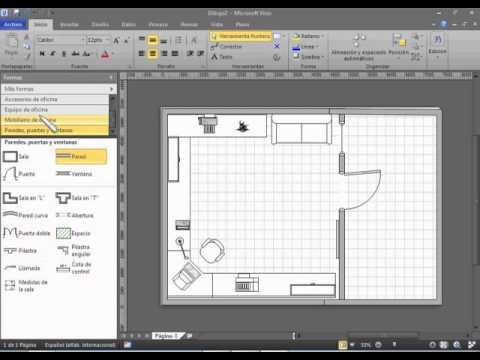 Tutorial microsoft visio 2010 plano de oficina y de red for Programa para disenar oficinas