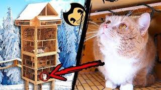 Making Amazing Tower Labyrinth for Cats in Bendy Theme
