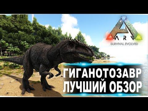 Гиганотозавр Giganotosaurus  в АРК  Лучший обзор приручение, разведение и способности  в Ark