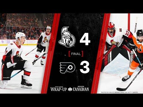 Sens vs. Flyers - Players Post-game