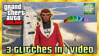 GTA 5 Online 3 GLITCHES IN 1 VIDEO | WEIHNACHTS JACKET | UNENDLICH FALLSCHIRME HD