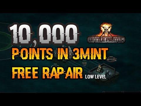 battle pirates Fm 10,000 points in 3 mint free repair