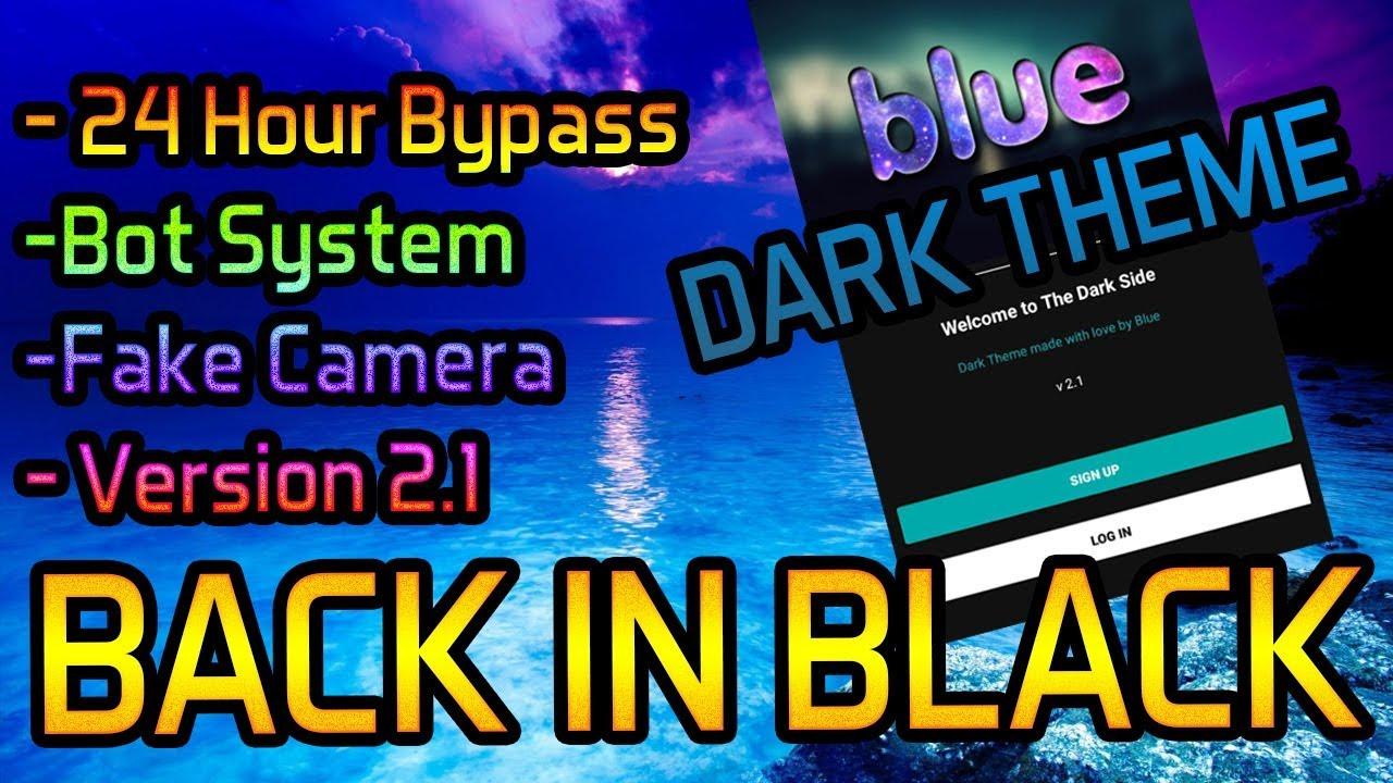 Blue Kik DARK THEME   NEW Modded Kik APK 2019 (Fake Camera, 24 Hour Bypass,  Dark Theme)