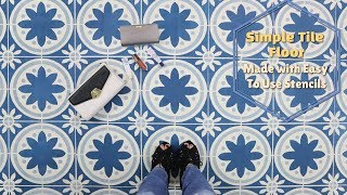 How To Stencil a Simple Portuguese Tile Floor