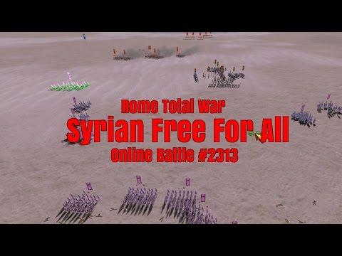 "Rome Total War online battle #2313: ""Syrian Powderkeg FFA"""