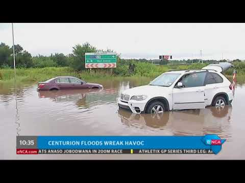 [JUST IN] Visuals of flooding in Centurion in Pretoria.
