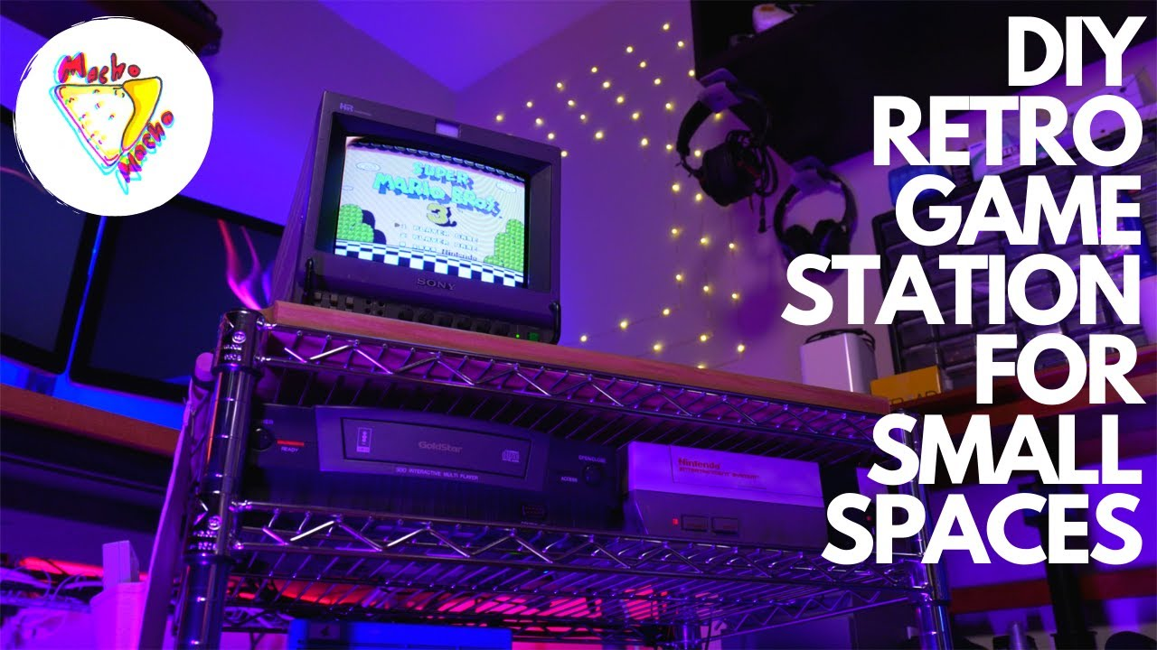 Retro Gaming In Small Spaces! | How I Built a Moving Retro Gaming Station for Easy Playing!